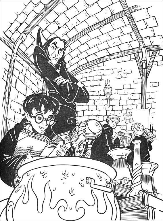 harry potter snape potions class | Coloring pages | Pinterest | Bilder