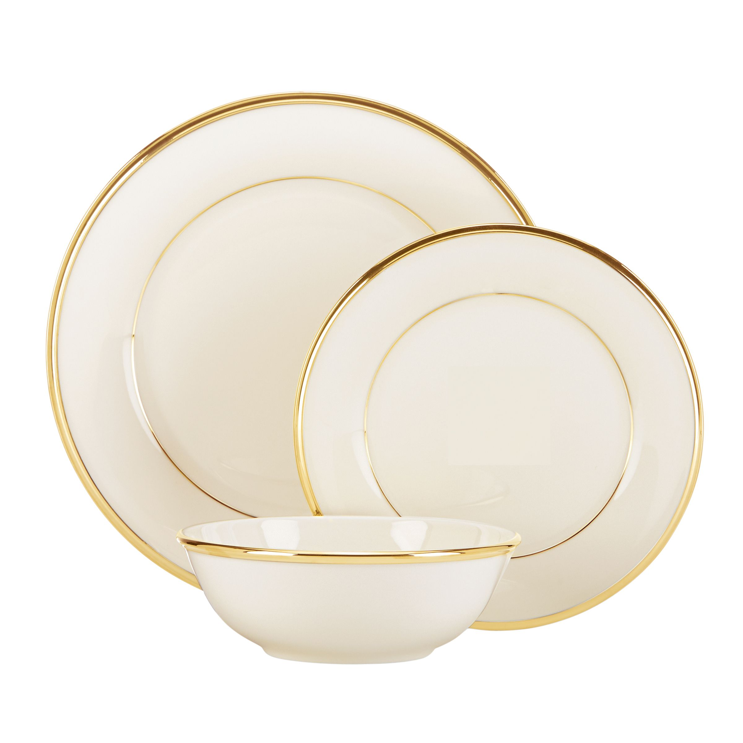 Lenox Eternal Gold China 3-piece Place Setting (Eternal DW 3PPS ...