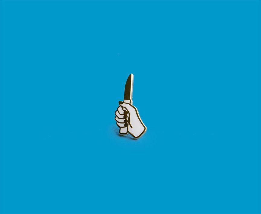 Prize pins knife.