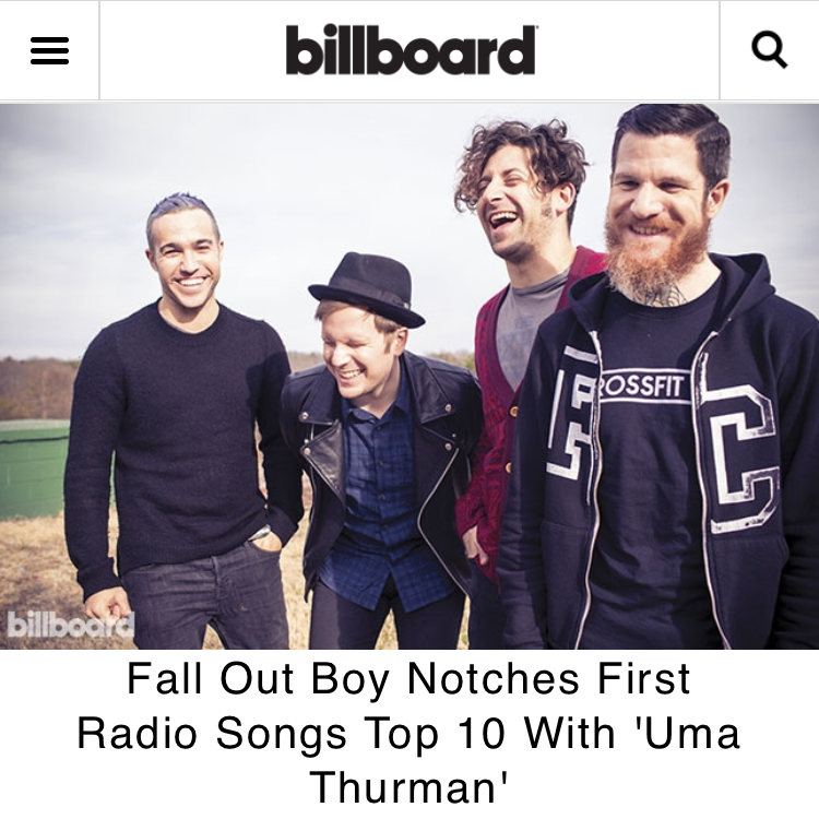 Fall Out Boy — s/o to everyone in radio who has been spinning our...