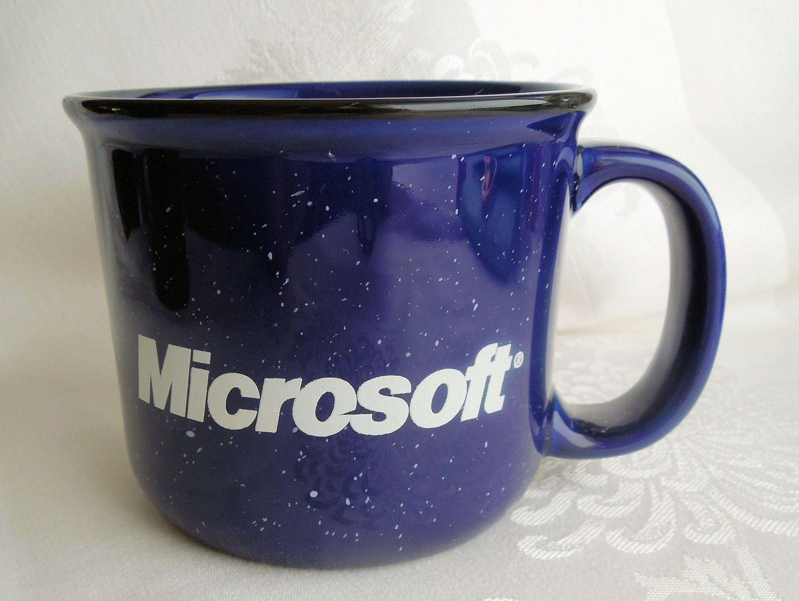 Microsoft Mug Dark Bbue Speckled Heavy Stoneware #kitchenware #homegoods
