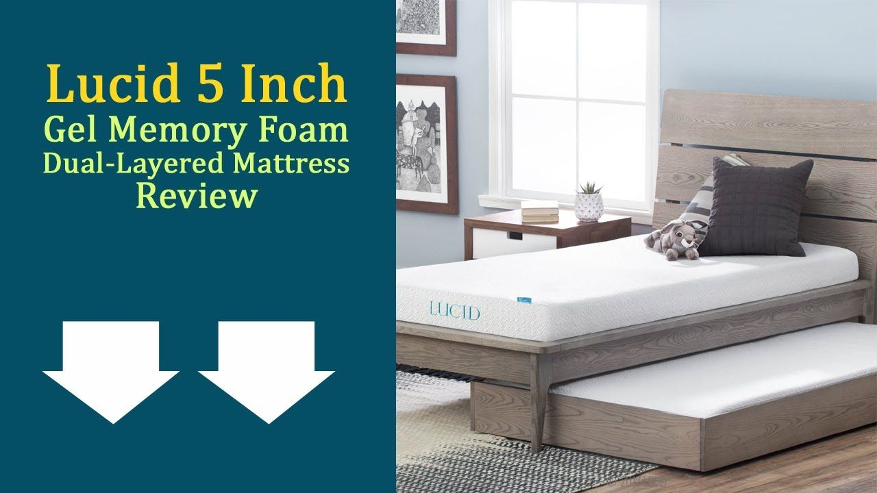 Lucid 5 Inch Gel Memory Foam Dual Layered Mattress Review Updated