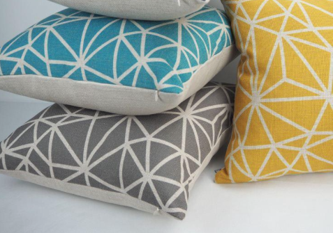 combination of colorful pillows