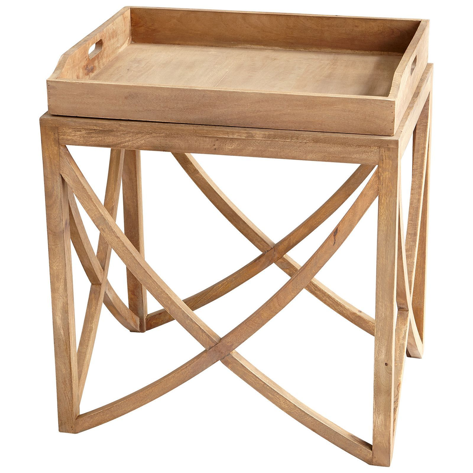 Lancer Tray Table in Light French Gray