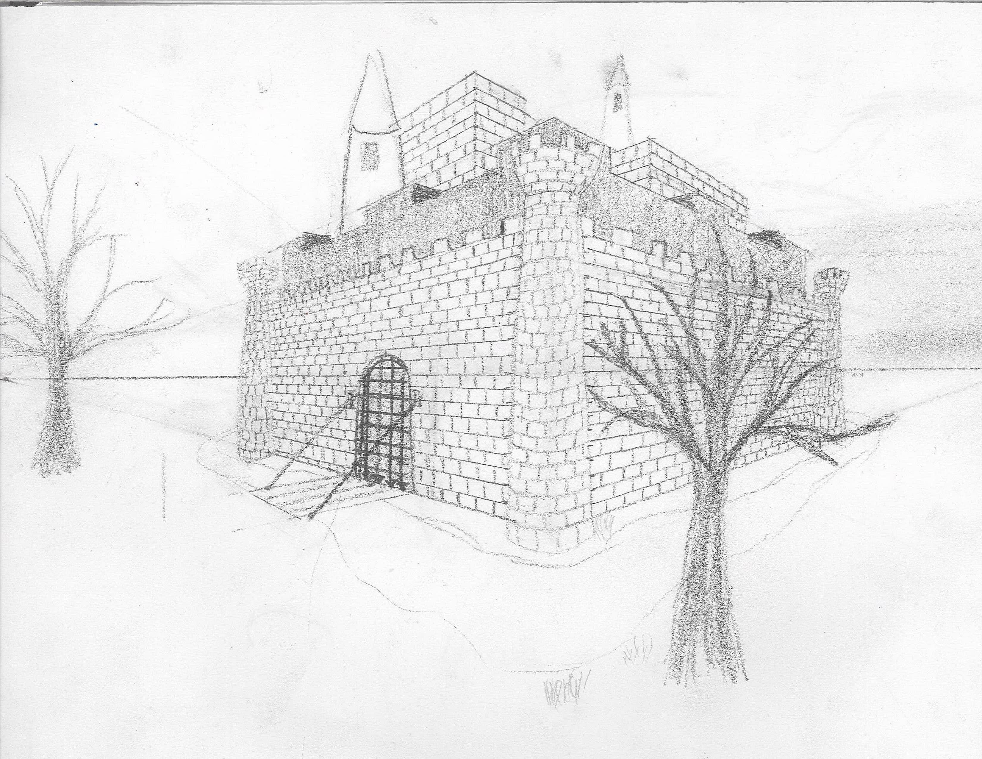 2 point perspective castles space | project ideas | pinterest