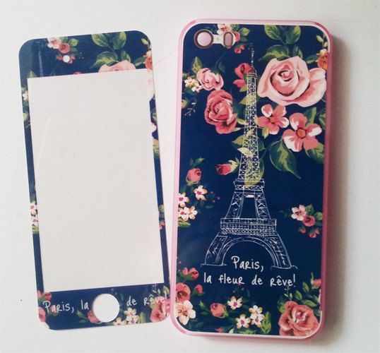 Custodia Paris  flowers iphone 5/5s  pellicola da di ReloadFactory, €9.00