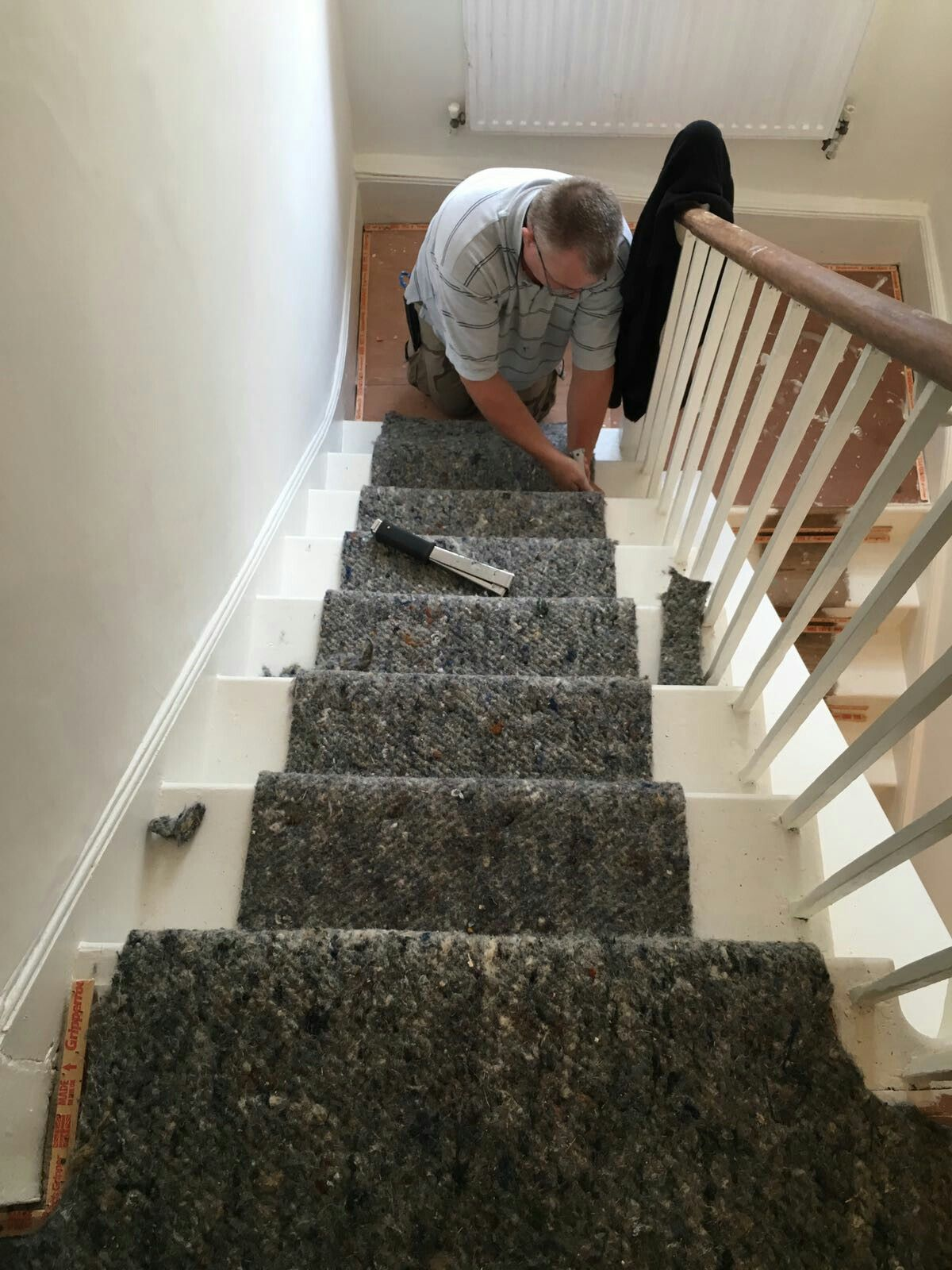 How to fit underlay onto stairs ready for a stair runner