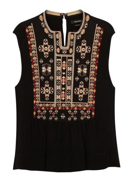 Russ embroidered silk top - New In