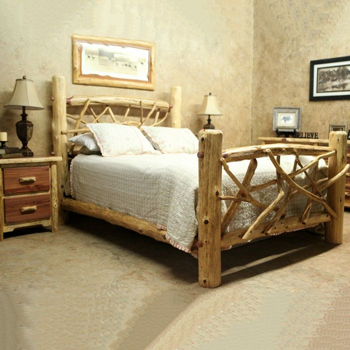 We Offer This Diamond Point Log Furniture Red Cedar Wildwood Twig Bed And Other Fine Beds Browse Our Rustic Catalogs Now