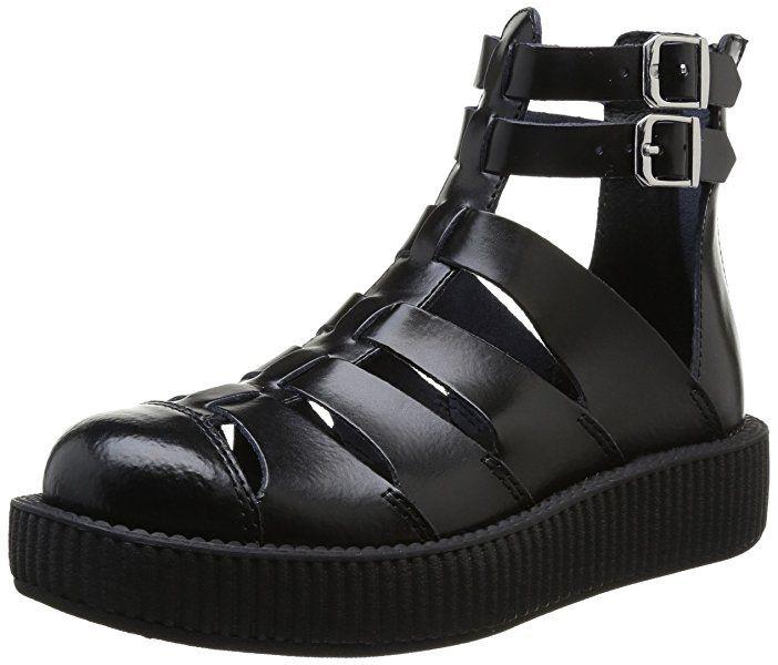 V8867L Gladiator Shoe,Black Leather