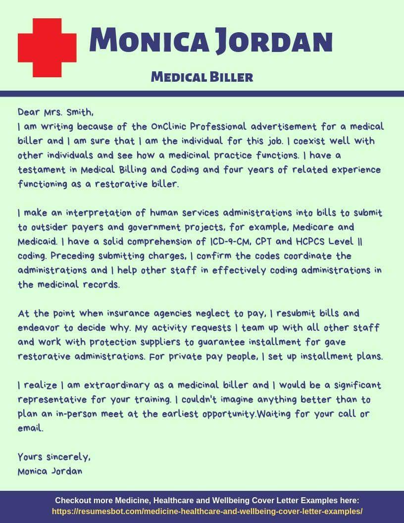 Medical biller cover letter samples templates pdfword
