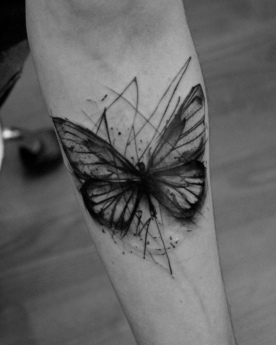 c9af9c9f5fb79 Sketch style butterfly by Kamil Mokot | — Tattoos ON Men — | Black ...
