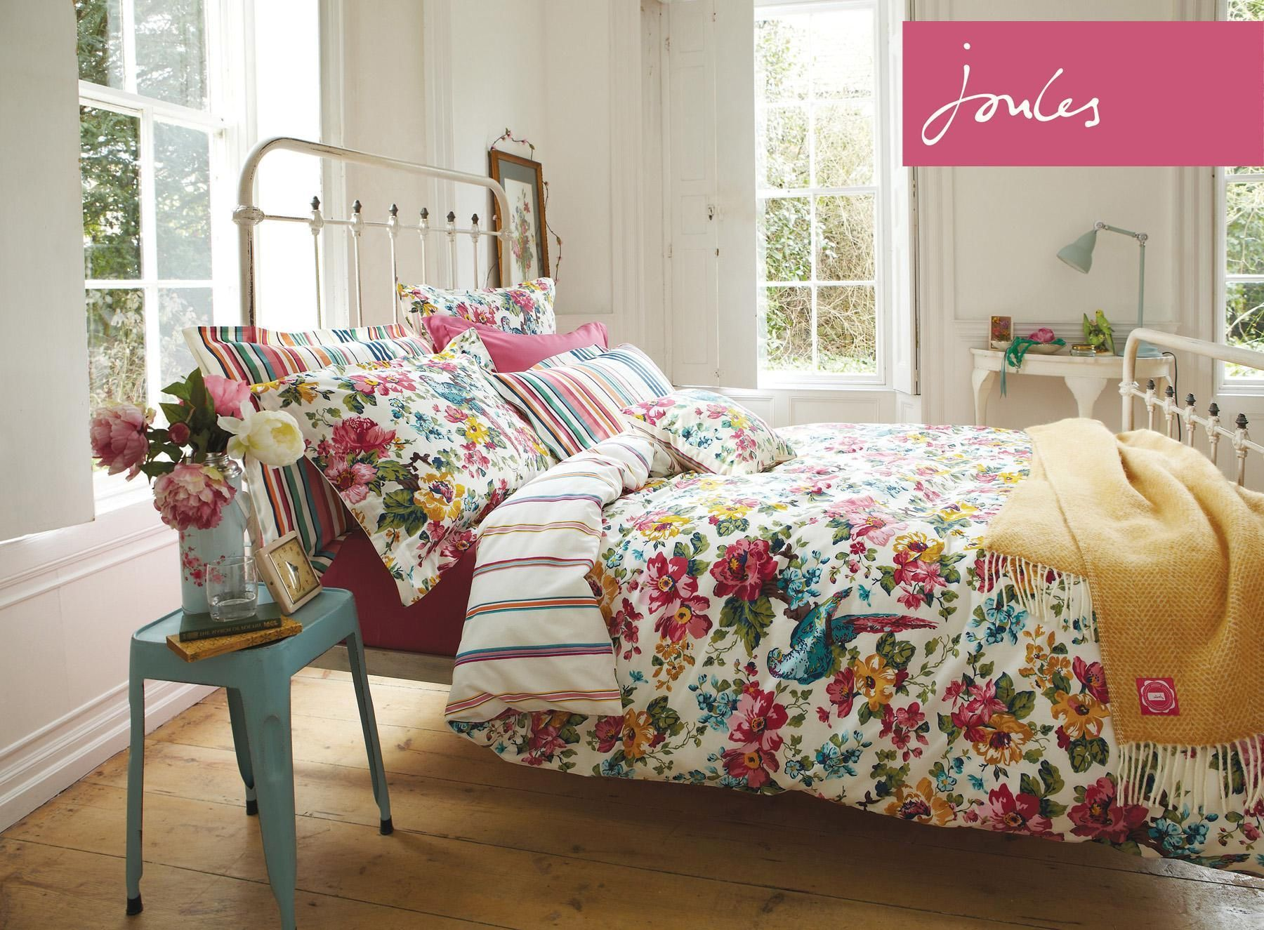 Buy Joules Sunbird Floral Duvet Cover from the Next UK