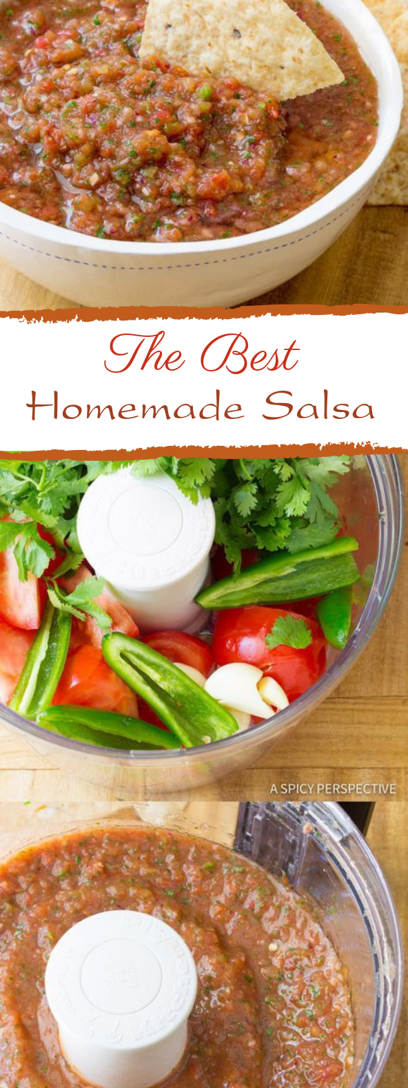 The Best Homemade Salsa #dip #mexicanfood #authenticmexicansalsa