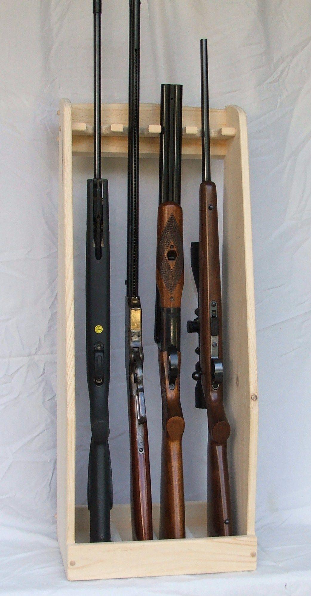 vertical gun rack ideas