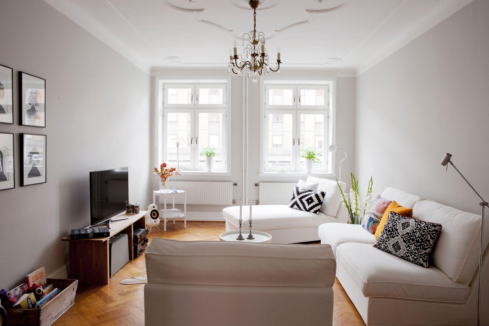 Paredes Grises Muebles Blancos Suelo De Madera Paredes Grises  ~ Decorar Apartamento Pequeño Ikea