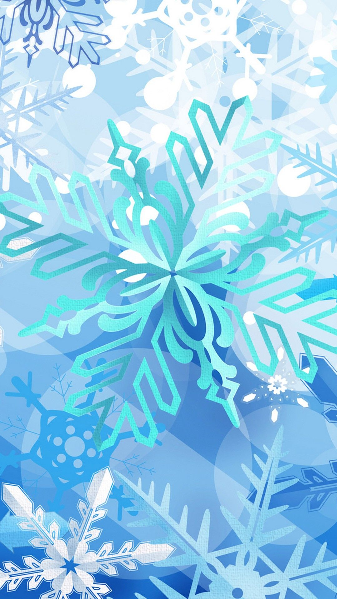 Snowflakes Christmas Iphone 6 Plus Wallpaper Wallpaper