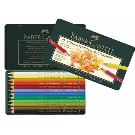 Colour Pencil Polychromos Tin Of 12 Polychromos Faber Castell Polychromos Farbstifte