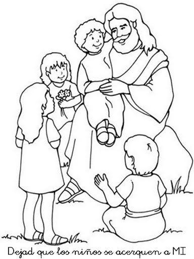 Dibujos Católicos : Imagenes dejad que los niños se acerquen a mi ...