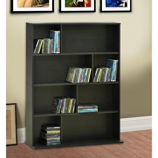 dvd storage shelf espresso movie storage cabinet dvd display