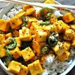 Vegan Crispy Hawaiian Garlic Tofu #pescatarianrecipes