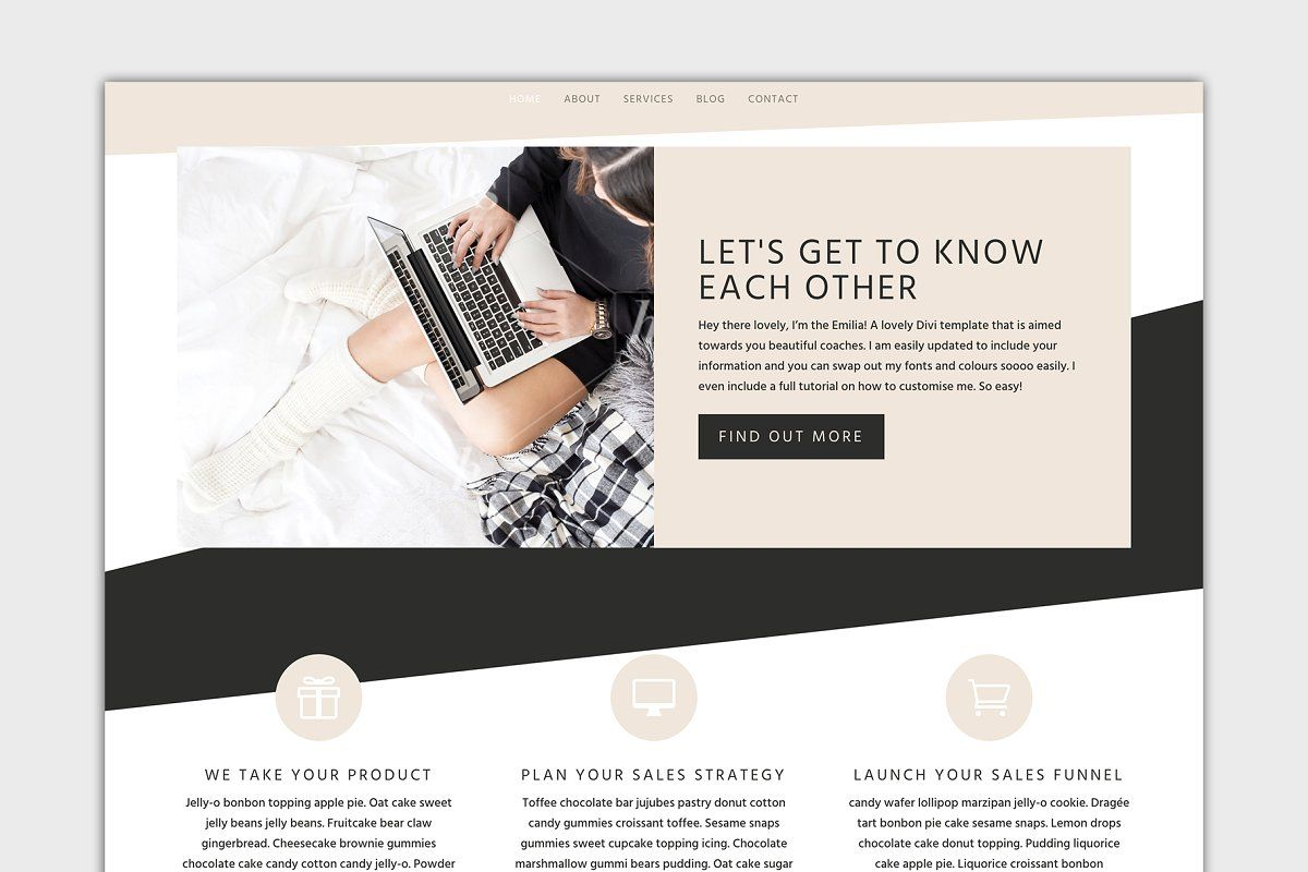 Ad The Emilia Divi Wordpress Theme By Gillian Sarah On