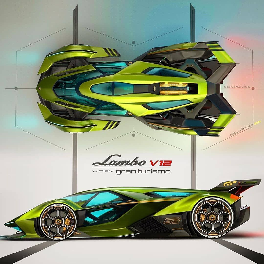 Yeujiin Galison On Instagram Checking Out More About The Lamborghini V12 Vision Gran Turismo In 2020 Futuristic Cars Design Art Cars Futuristic Cars