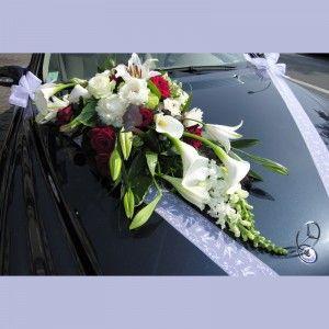 bouquet de fleurs mariage pour voiture. Black Bedroom Furniture Sets. Home Design Ideas