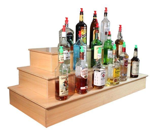 Wood Liquor Shelf Display - Liquor Shelves / Bottle Displays
