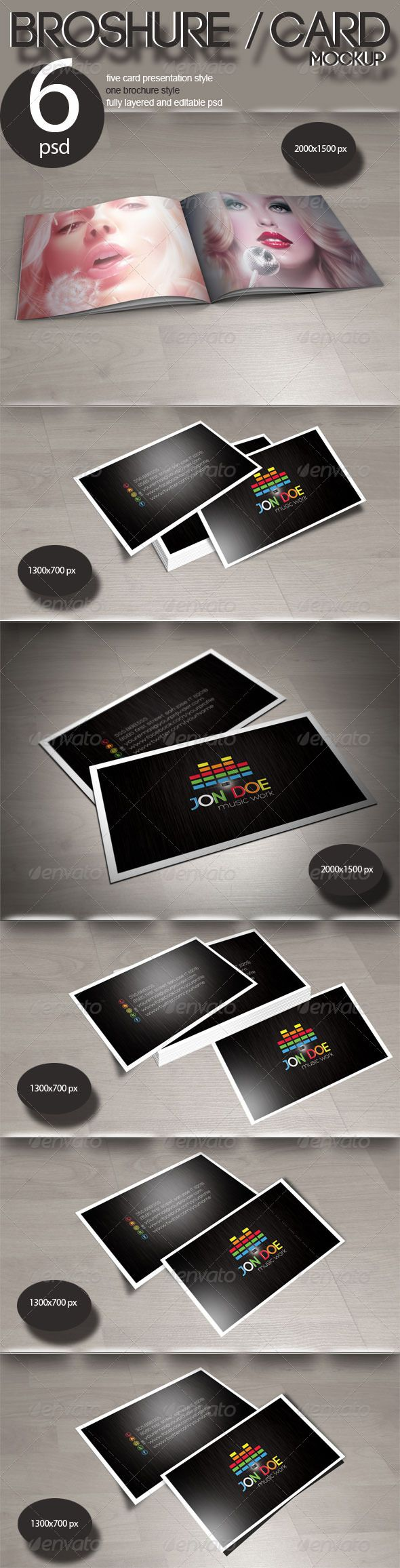 One brochure five business card mockup pinterest mockup one brochure five business card mockup photoshop psd brochure business available here reheart Choice Image