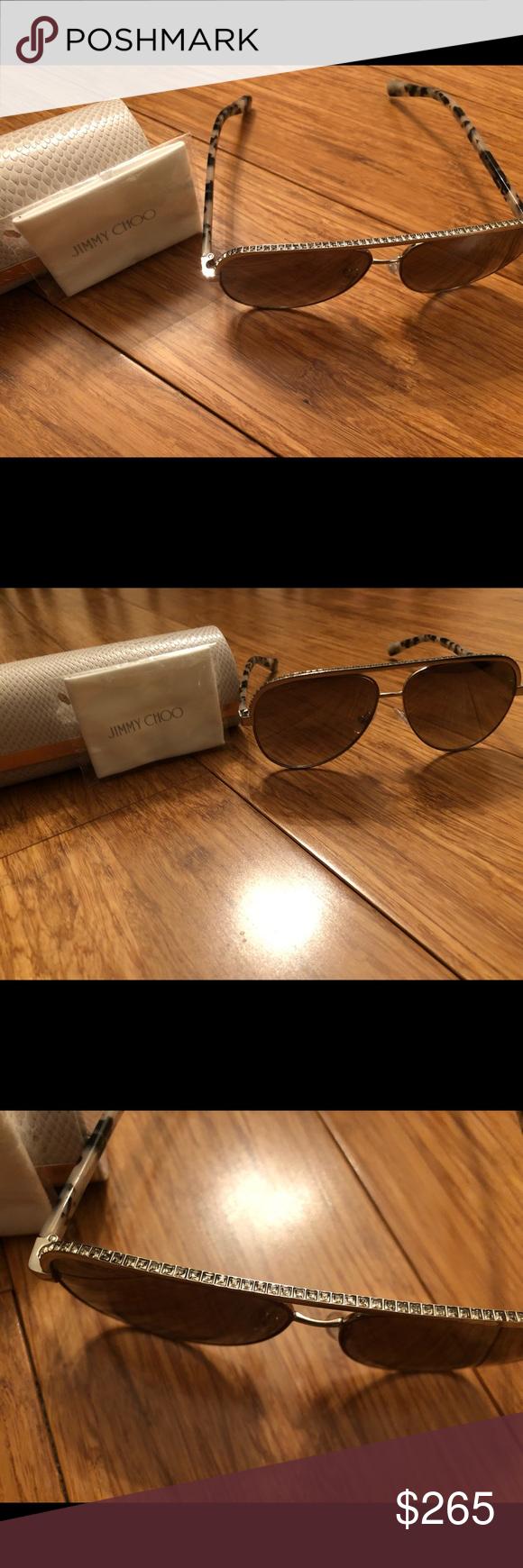db476ac00a3 Jimmy Choo Rhinestone top sunglasses New! Worn only one time! Authentic  rhinestone top jimmy