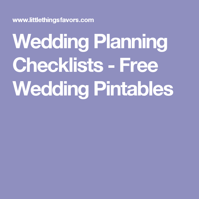 Free Wedding Pintables (With