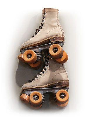 old, brown & orange skating rink skates...you know you miss 'em.