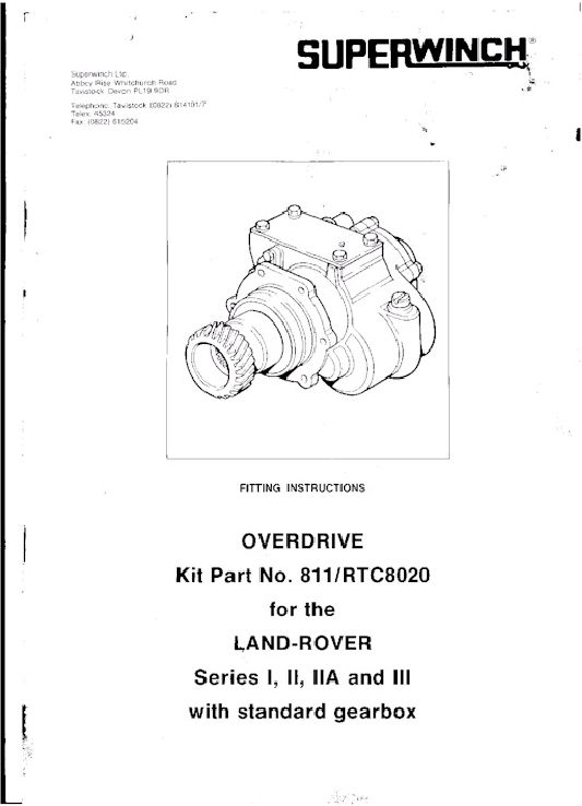 Land Rover faireyoverdrive Superwinch Overdrive