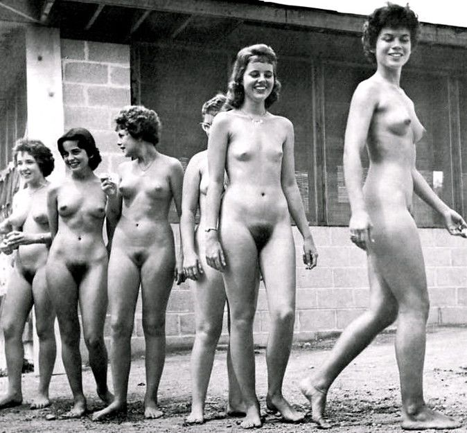 Nudist pic retro woman