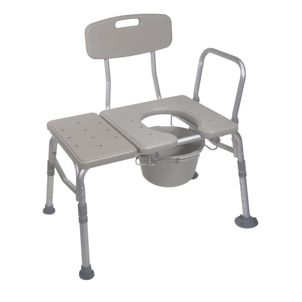 Drive Combination Plastic Transfer Bench with Commode Opening ...