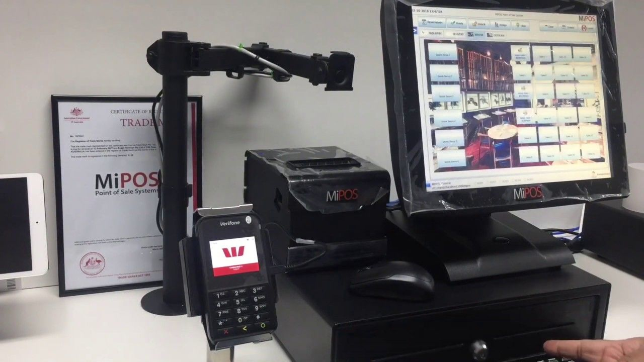 Mipos Systems Eftpos Integration With Westpac Presto Smart E355 System Landline Phone Office Phone