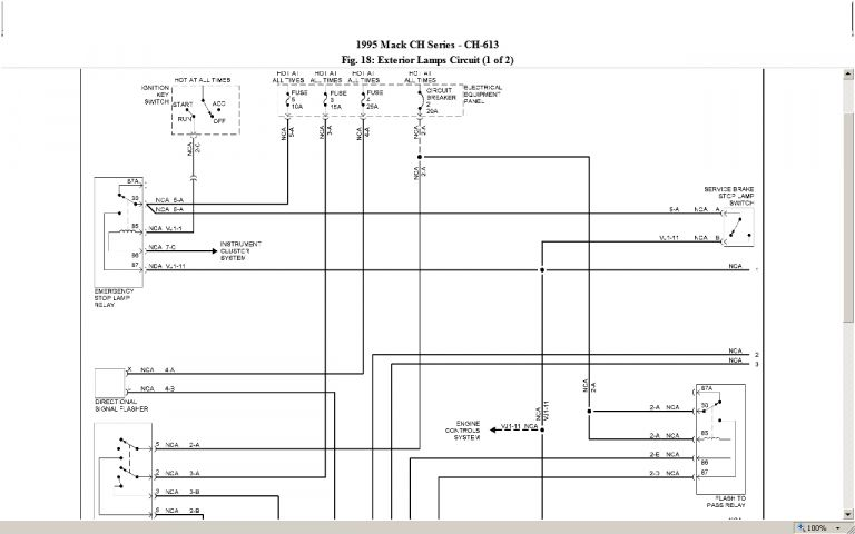 2009 Mack Truck Fuse Diagram And Rd Mack Fuse Diagram Wiring Diagram Mack Trucks Fuse Box Diagram