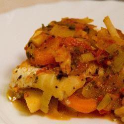 Ryba zapiekana z warzywami @ allrecipes.pl