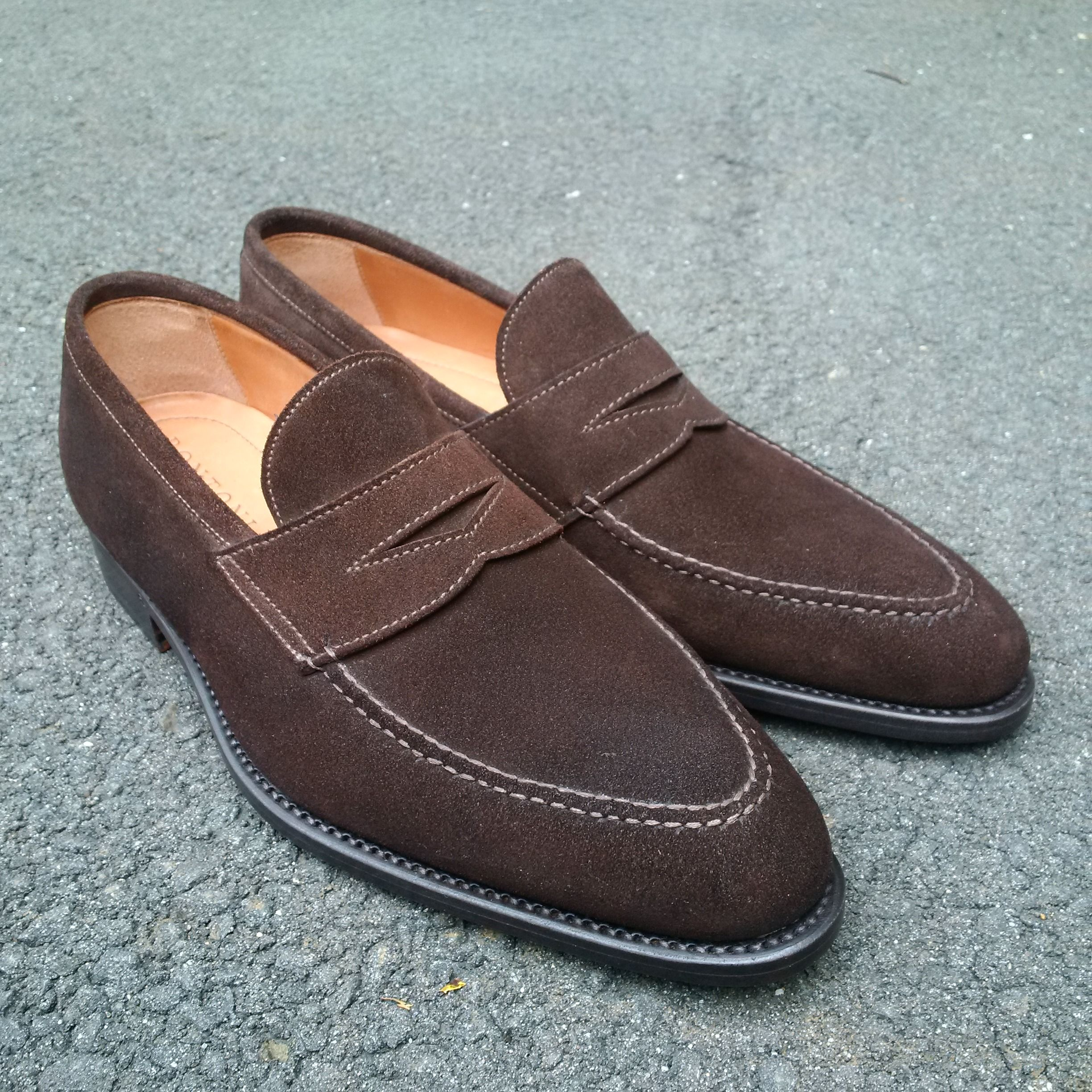 Bontoni suede loafers - perfect for the fall...