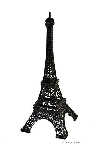 10 Black Metal Eiffel Tower Figurine Paris Decor Statue French Home Visit