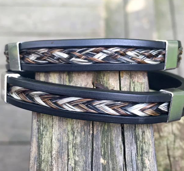 Chancellor Inlay Horse Hair Bracelet (2 Accents)