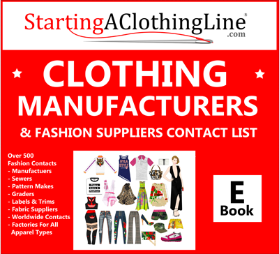 Clothing Manufacturers Fashion Suppliers List Ebook Digital Fashion Pro Fashion Design Software Clothing Manufacturer