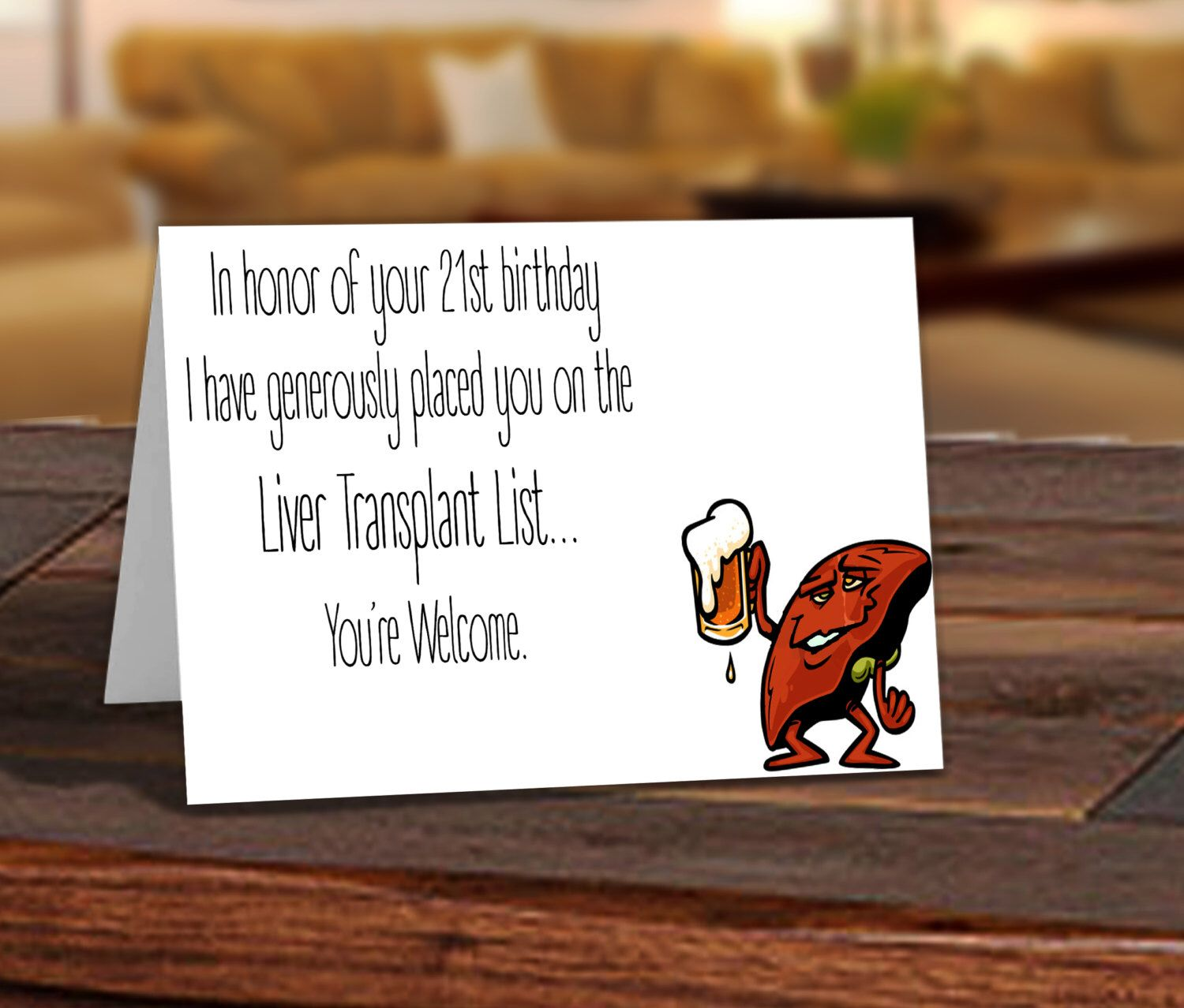 Funny adult birthday card 21 year old birthday card put you on funny adult birthday card 21 year old birthday card put you on the liver bookmarktalkfo Image collections
