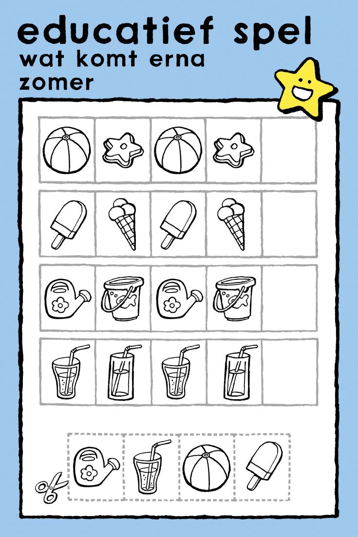 wat komt erna kleurplaat educatieve spellen kinderen