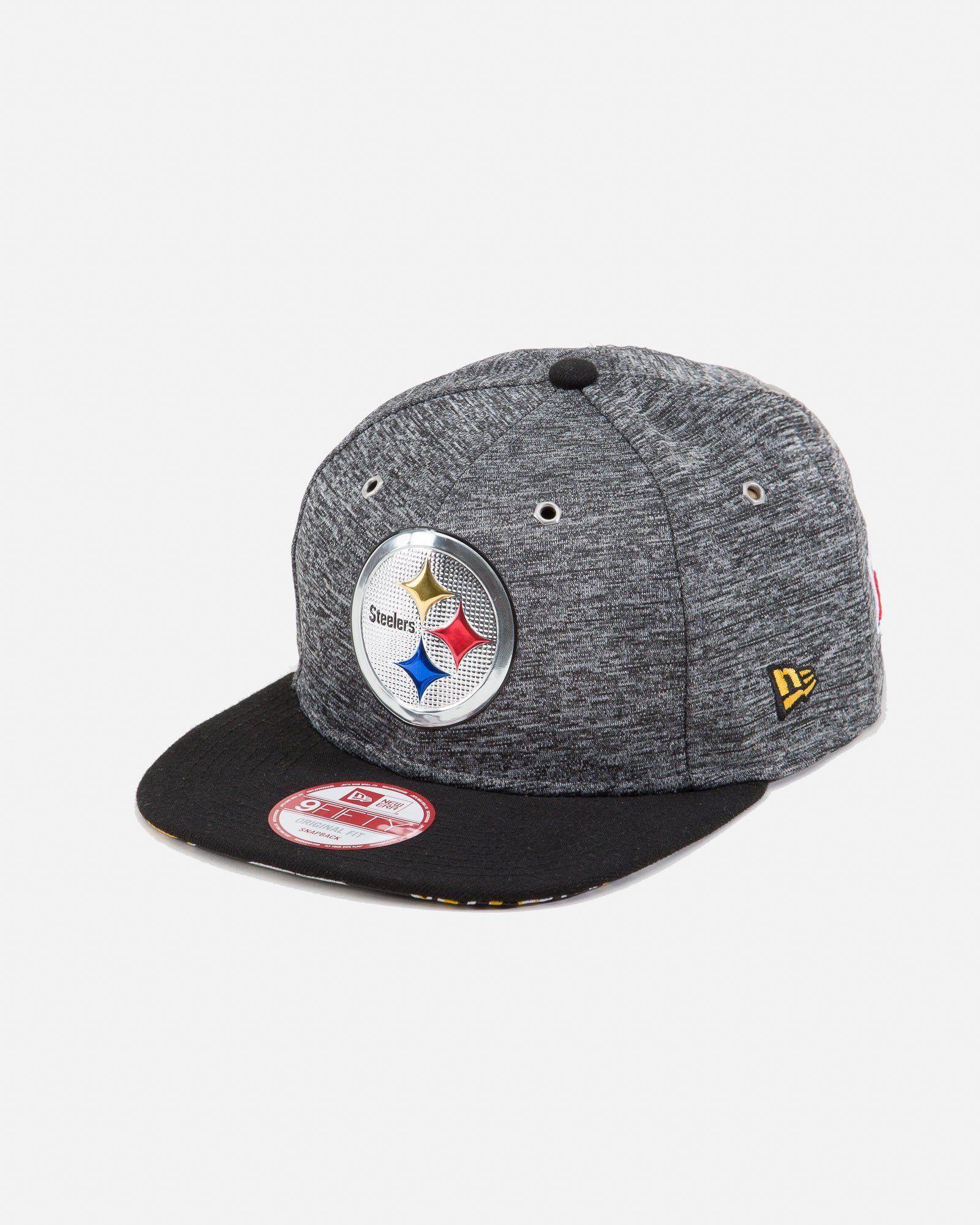 Pittsburgh Steelers 9FIFTY Snapback Hat Grey Black  f4f22dc1c
