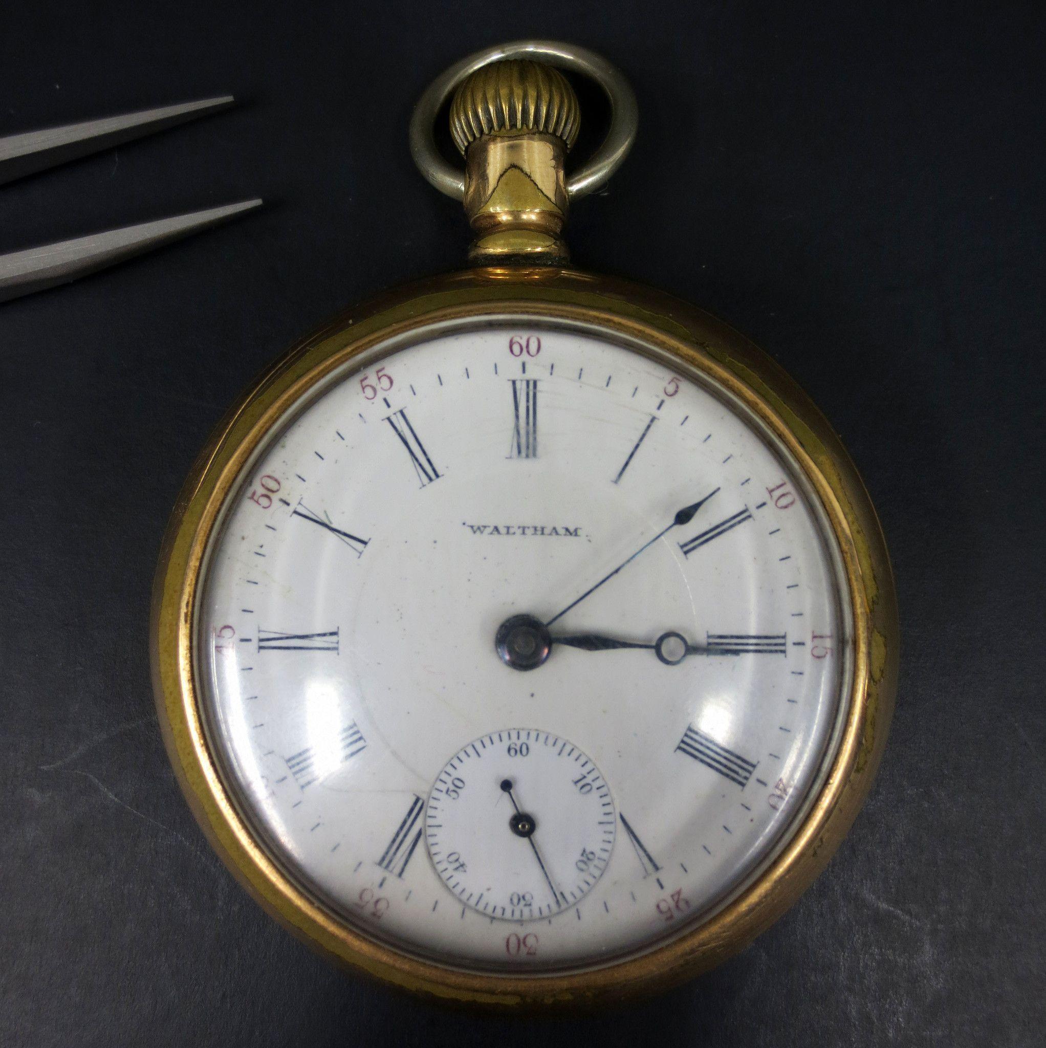 416406919 Antique 1902 Waltham Bartlett Railroad Pocket Watch 17 Jewels Model ...