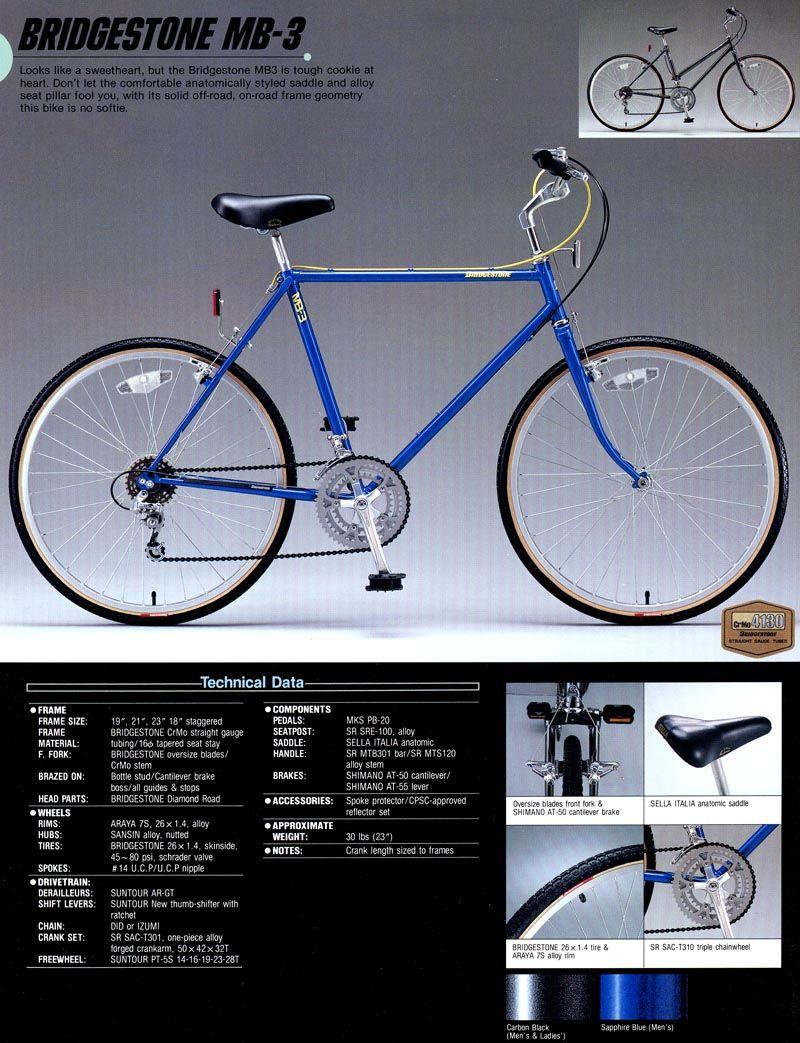 Bridgestone Bicycle Catalogue 1986 Bridgestone Mb 3 Bicycle Bridgestone Vintage Mountain Bike