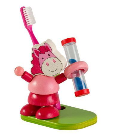 So cute.  Getting this for the grandbaby.  I wish they had this stuff when my kids were little!  Happy Horse Toothbrush Timer by HeidiKids is perfect! #zulilyfinds