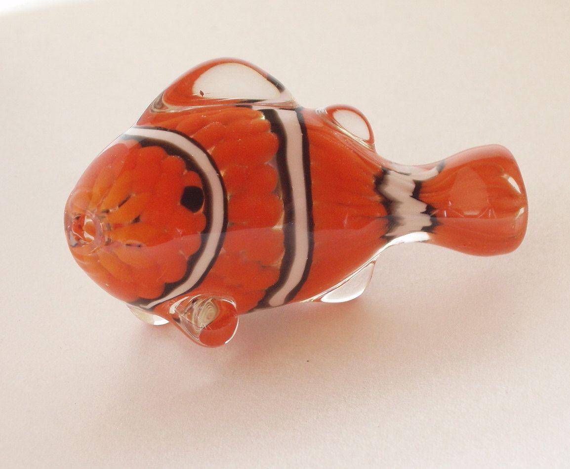 Chameleon Glass Clown Fish Chillum Glass Hand Pipe